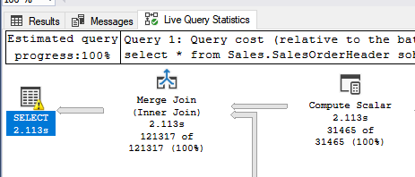 Live Query Tab